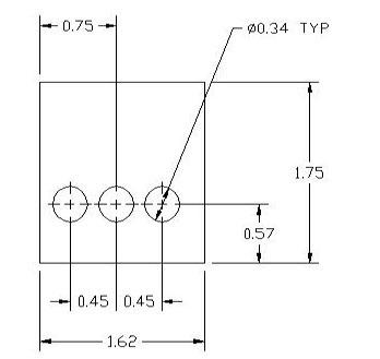 33840 Metric Thickness spacer Drawing