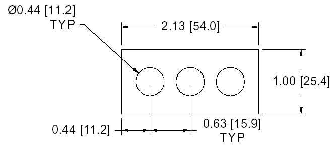 DSCP023 Series Spacer Drawing