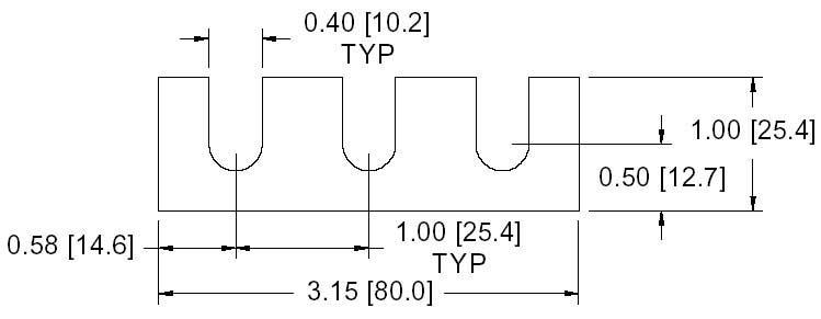 DSCP032 Series Spacer Drawing