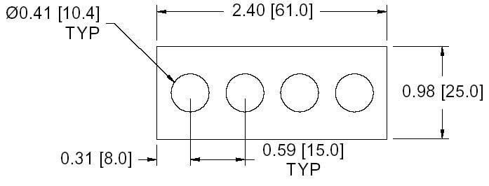 DSCP040 Series Spacer Drawing