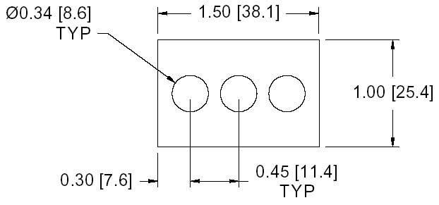 DSCP045 Series Spacer Drawing
