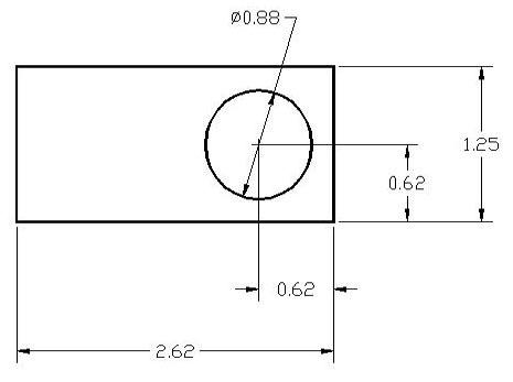 DSCP061 Series Spacer Drawing