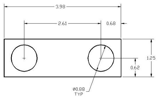 DSCP071 Series Spacer Drawing