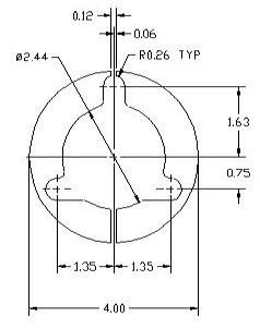 DSCP082 Ring spacer drawing