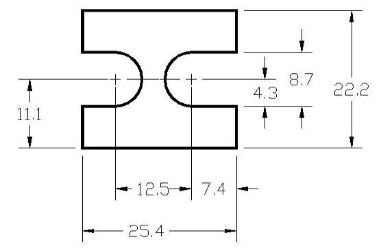 FSD 40774 Metric Thickness Spacer Drawing