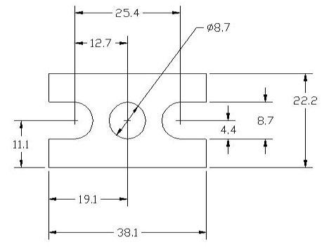 FSD 40775 Metric Thickness Spacer Drawing