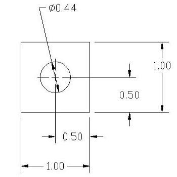 FSD 40873 Metric Thickness Spacer Drawing