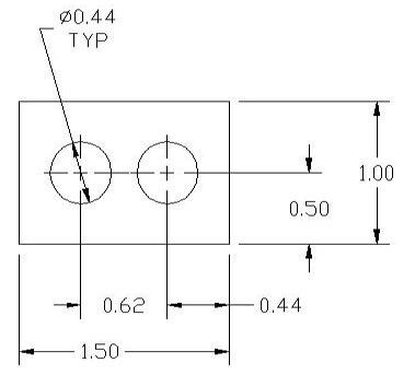 FSD 40874 Metric Thickness Spacer Drawing