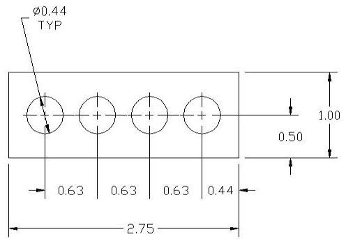 FSD 40876 Metric Thickness Spacer Drawing