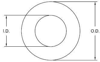 Metric Round Washer Drawing